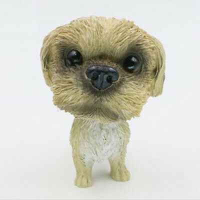 Cute Bobble head Shih Tzu Dog Ornament Figurine Home Car Dashboard Decor Gift