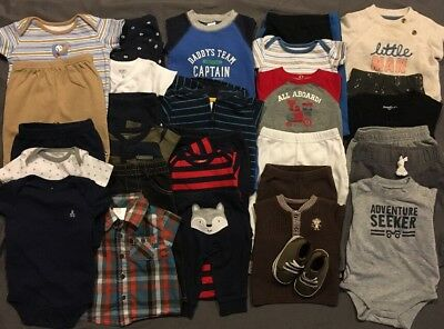 EUC Adorable Baby Boys CLOTHES LOT Outfit Sets 3 & 3-6 Months Lot # 4