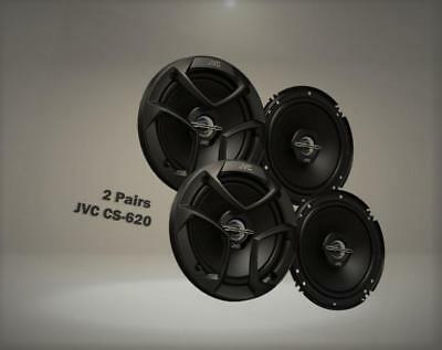 "Package In Bulk Box - Two (2) Pairs Of CS-J620 6.5"" 300W Car Audio 2-WAY Coaxial"