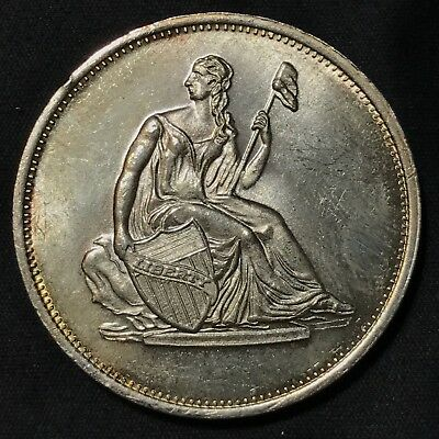 Seated Liberty Dollar Silver Round .999 One Troy Ounce Coin Scarce Issue