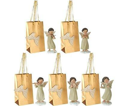 Set of 5 Musical Angels with Gift Bags by Valerie Parr Hill