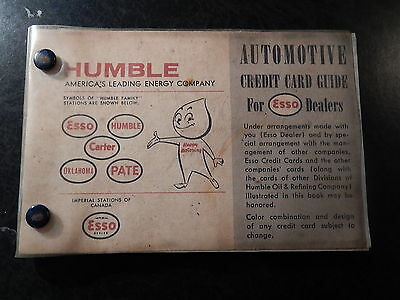 HUMBLE ESSO Credit Card Guide from January 1 1961