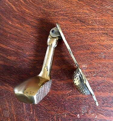 Antique Brass Golf Club & Ball Door Knocker
