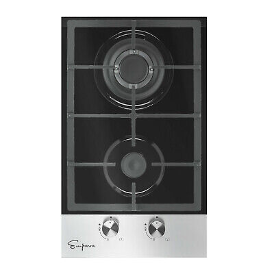 """12"""" 2 Burner Tempered Glass Gas Stove Cooktop"""