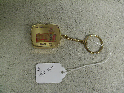 Rare Vintage San Francisco China Town Wind Up Music Chime Key Chain