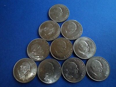 Great Britain (UK) lot of 10 1965 Churchill Crowns