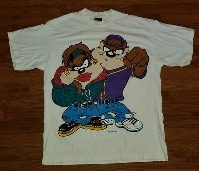 Vintage Changes USA Taz T Shirt Size XL Featuring She Devil RARE 90s