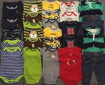 EUC Adorable Twins Baby Boys CLOTHES LOT Outfit Sets 3 Months Lot # 6