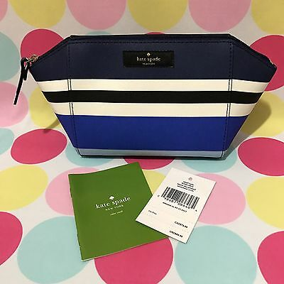 NEW KATE SPADE Small Eady Laurey Way Printed Cosmetic Case Pouch in Multicolors