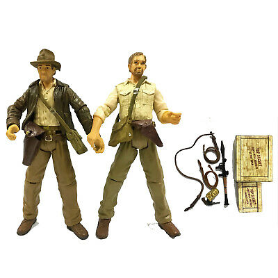 "Lot2pcs Indiana Jones Raiders of the Lost Ark 3.75"" Action Figure Great Gift Toy"