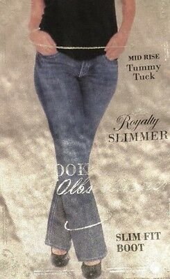 Women Plus Size 18W by YMI Royalty Charcoal Embellished Slimmer Jean Pant NWT