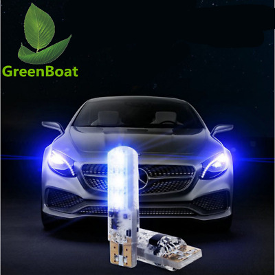 2x RGB T10 194 W5W 2825 Remote Control Color LED bulb Parking light Car lamp