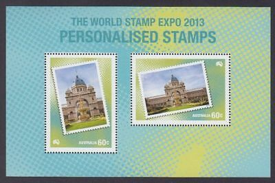 2013 World Stamp Expo Muh Personalised M/s Ex Post Year Book