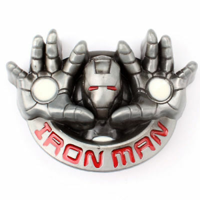 US! Iron Man hands Superhero Belt Buckle Superhero Silver Men Alloy Belt Buckles
