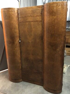 Art Deco Stunning Walnut Wardrobe c.1930