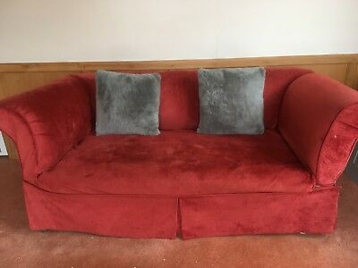Beautiful Antique Victorian Chesterfield sofa with Drop arm & casters
