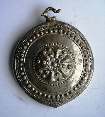 Antique Massive Handmade Part of a Silver Belt Buckle. Early 19th century.