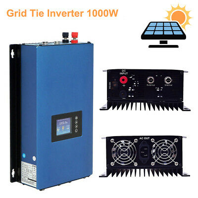 1000W On Grid Tie Inverter with Limiter for Solar Panels/Battery Power PV System
