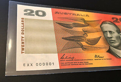 $20 Note ** NUMBER ONE SERIAL ** EXX 000001 ** 1989 Phillips/Fraser ** RARE!!!