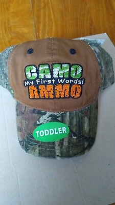 Mossy Oak NWT Toddlers Hat in Brown Camo