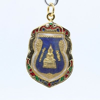 Thai amulet Buddha pendant,LP Sothorn good luck pendant,blue background.(No.6)