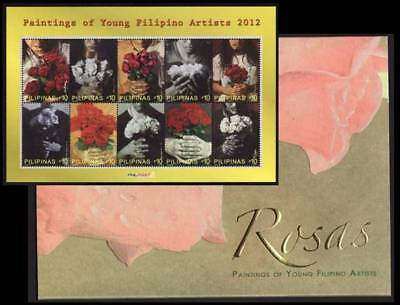 Philippines – 2012 Paintings by Young Filipino Artists, MS/10 with Folder MNH