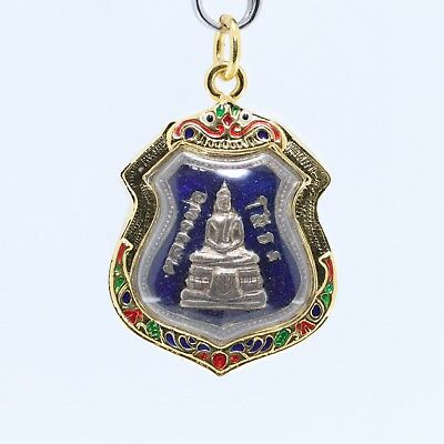 Thai amulet Buddha pendant,LP Sothorn good luck pendant,blue background.(No.7)