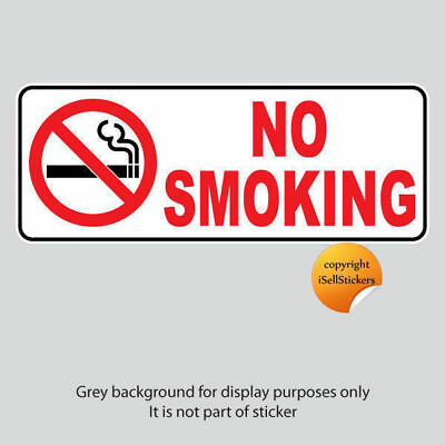 RH-16001 No Smoking Sign Restaurant Bathroom Window Door Wall Sticker