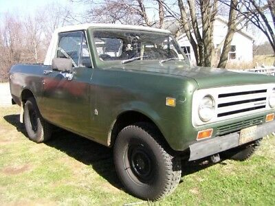 1972International scout II-right hand drive-runs well-needs trans.work-$3000