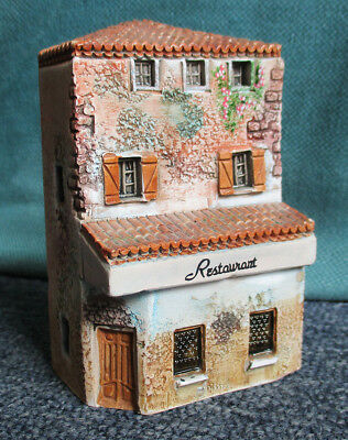 Vintage clay Gault French provincial house restaurant model 4 inches tall