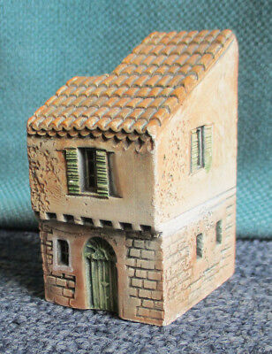 Vintage clay Gault French provincial model house, made in France 2.1/2 inch tall