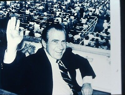 RICHARD NIXON - US President - Original Vintage 35mm B/W Slide