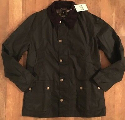 Barbour Ashby Waxed Jacket Olive Men's Size Large Brand New NWT MSRP $399