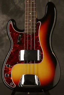 original 1966 Fender Precision P-Bass LEFT-HANDED!!! Sunburst