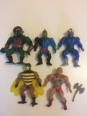 Vintage Masters of the Universe He-Man figures bundle
