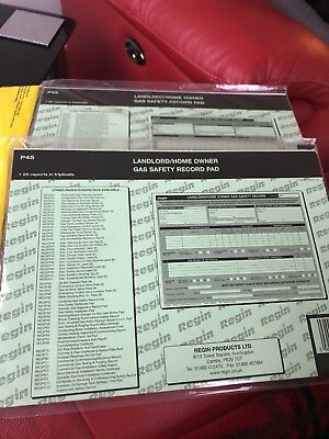 Landlord/home Owner Gas Safety Record Pad