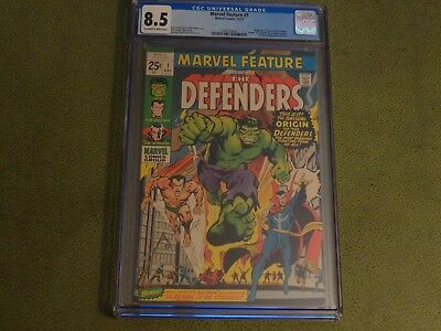 Very Nice MARVEL FEATURE #1 CGC 8.5  1ST DEFENDERS