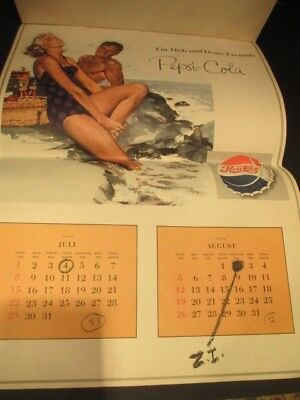 1955 Esquire & 1956 German Pepsi Calenders Of G.i. Diary Until Discharge