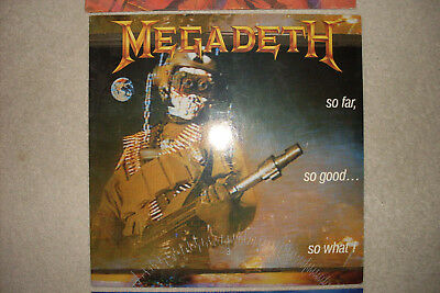 Megadeth So Far So Good Vinyl 1988 Ecc Vg/g
