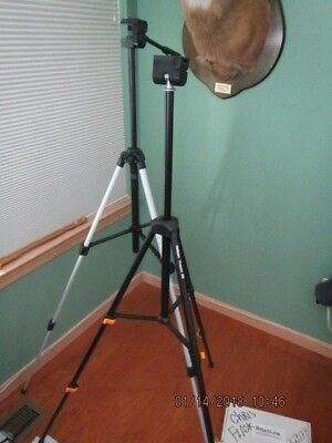 """Velbon CX-300  and Tracer 30 tripods  lot of 2      45.5"""" tallest; 20.5 lowest"""
