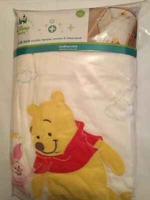 Mothercare Disney Baby Winnie The Pooh Crib Bale, Bumper, Coverlet, Fitted Sheet