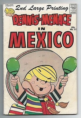 Dennis the Menace #25 In Mexico 2nd Printing GD/VG Summer 1964 - Giant-Size