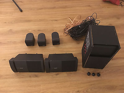 BOSE ACOUSTIMASS 4 HOME THEATER SPEAKER SYSTEM + 2x Bose V100 und Kabel