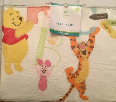 Mothercare Disney Baby Winnie The Pooh 5 Piece Bed In A Bag For A Cot Or Cotbed