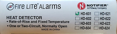 Fire lite HD-601 Heat Detector 135° Fixed Temp & Rate of Rise FREE SHIPPING