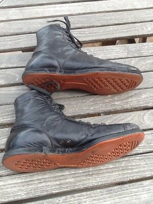 WONDERFUL Rare OLD Circa Antique 1930's All Leather BASKETBALL Shoes Vintage WOW