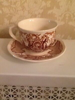 Alfred Meakin Fair Winds Cup & Saucer New York Seal