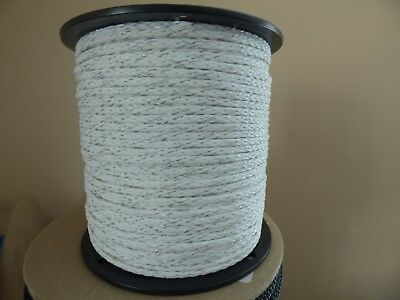 4mm x 656 ft. Electric Rope Fence Spools. Polyethylene w/ 3 stainless strands.
