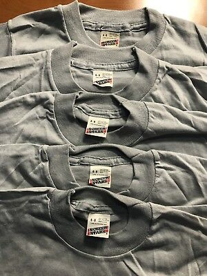 Lot of 5 Vintage 80s Screen Stars Blank Kids T-Shirt Youth Small 6-8 Gray Grey