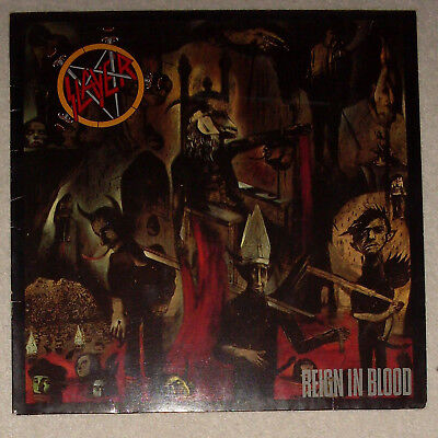 SLAYER Reign In Blood Thrash Metal LP 1. Press Def Jam 1986 Vinyl
